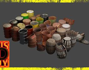 3D model Extensive Barrel Collection