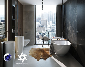 Bathroom Interior Scene for Cinema 4D and Octane 3D model