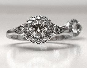 Blossom engagement ring 3D print model