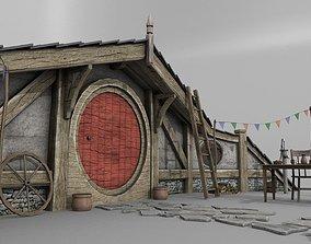 Halfling Home 6 3D asset