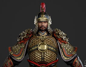 Ancient Chinese general armor Generals of Ming 3D asset