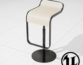 3D asset game-ready LEM Piston Bar Stool UE4