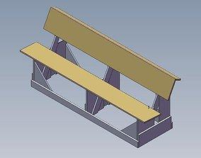 3D model Haiti Church Bench