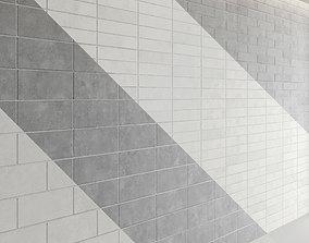 3D Block wall set 03