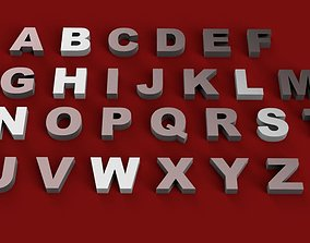 ARIAL BLACK font uppercase and lowercase 3D letters STL