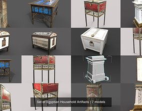 3D Set of Egyptian Household Artifacts