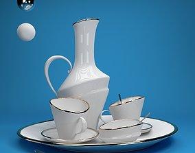 tea set pot 3D model
