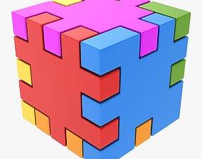 Happy Cube 3D asset