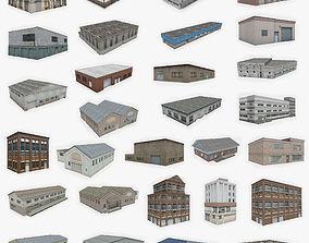 29 Industrial Buildings Collection 3D asset