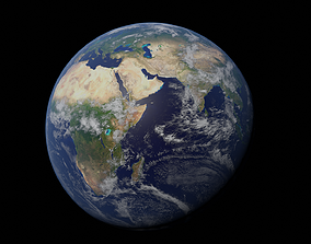 Earth 3D model atmosphere