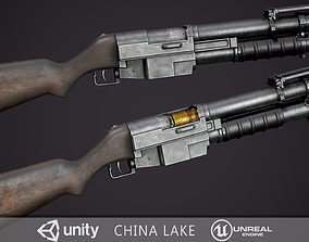 3D asset VR / AR ready China Lake Grenade Launcher
