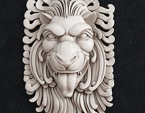 3D printable model pendant Lion head Decor
