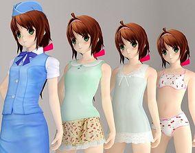 3D Karin anime girl pose 2
