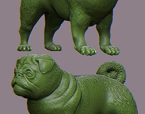 Pug dog 3D printable model miniatures