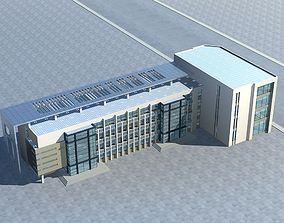 Office Building tree block 3D model