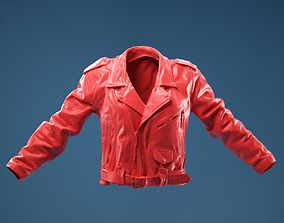 Moto Leather Jacket closed 3D