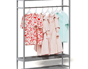Market Rack 3D Model - Clothes shelf