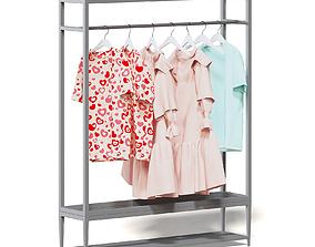 Market Rack 3D Model - Clothes shelf
