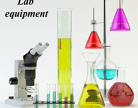 3D asset Lab equipment set