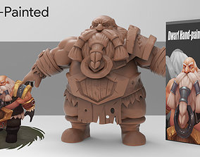 3D Hand-Paint Character Dwarf for games low-poly
