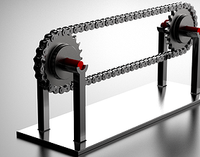 TRANSMISSION CHAIN AND GEAR ASSEMBLY 3D printable model 5