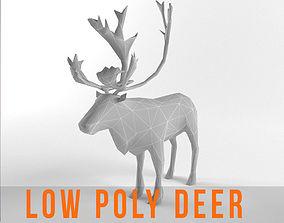 Christmas Deer Elk Moose Mammal Raindeer Animal 3D model 1