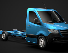 3D Mercedes Sprinter Chassis Single Cab L3 RWD 2020