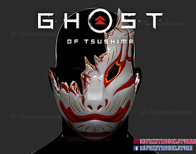 Ghost of Tsushima Tomoe Mask 3D print model helmet