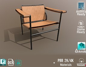 3D model Chair Thonet Le Corbusier PBR - Old Leather - 1