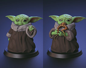 Green Baby - Using The Force and Eating 3D print model