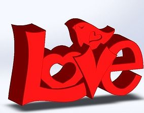 3D print model LOVE Letters with Dove