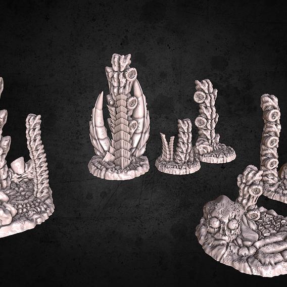 Updated alien terrain models