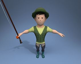 3D model Medieval Fisherman