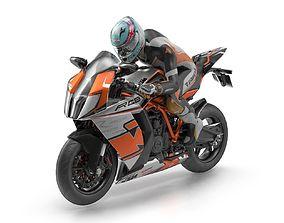 KTM 1198 RC8 R Track 3D model