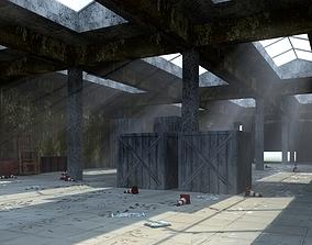 3D asset WAREHOUSE - ABANDONED