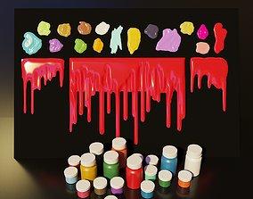Artist Studio Goache Smudges Set 190 07 3D