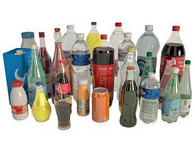 3D model Bottles and Drinks