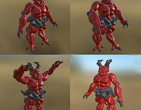 3D asset Monster 02 3 Pose PBR