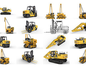 Excavator Tractor Forklift Komatsu hquality 3D model