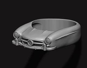 car ring 3D printable model benz