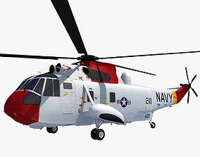 Red Sikorsky SH-3 Sea King 3D Model