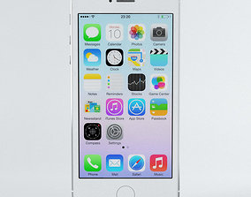 Apple iPhone 5s Silver 3D