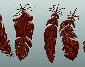 3D print model Feathers Set CNC