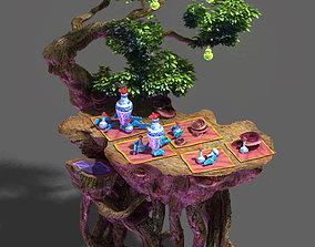 Art engraving - tree 3D