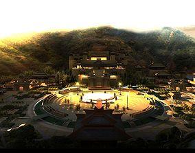 China Temple lighting 7 3D