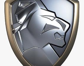 Lion Shield Insignia v 1 3D model