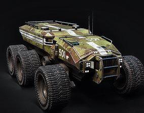 Technical Vehicle transporter Source Files 3D model 2