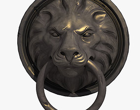 Lion Head Door Knocker 3D model VR / AR ready