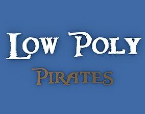 Low Poly Pirates 3D model