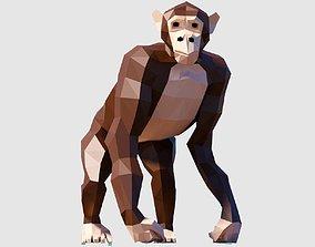 Chimpanzee 3D asset game-ready